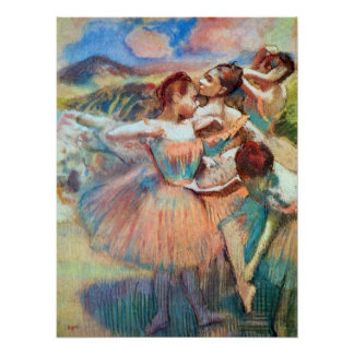 Dancers in a Landscape by Edgar Degas Poster