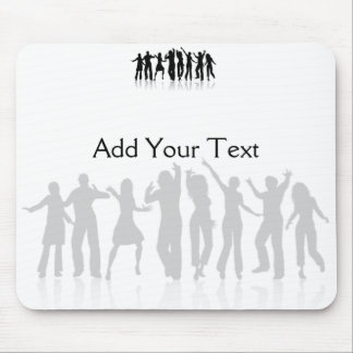 Dancers in Black and White Mouse Pad
