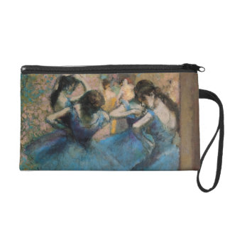 Dancers in blue, 1890 wristlet clutches