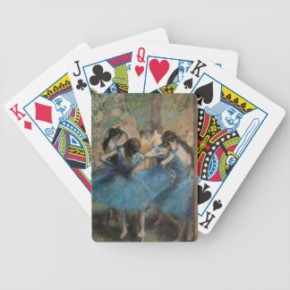 Dancers in blue, 1890 bicycle playing cards