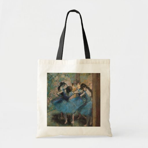 Dancers in blue, 1890 canvas bag