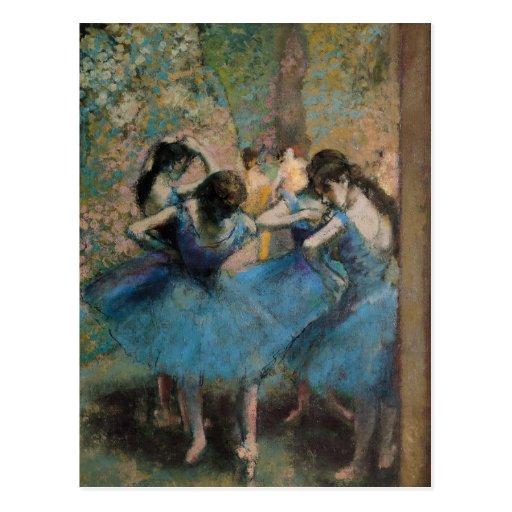 Dancers in blue, 1890 post card