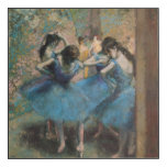 Dancers in blue, 1890 wood wall art