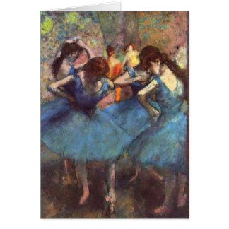 Dancers in Blue Card