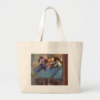 Dancers in Blue Large Tote Bag