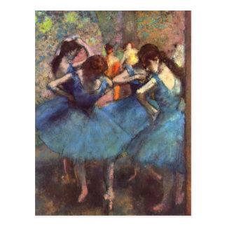 Dancers in Blue Postcard