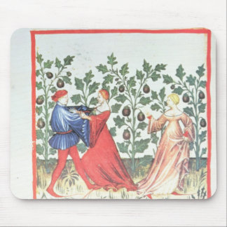 Dancers in front of Broom Plants, 13th century Mouse Pad