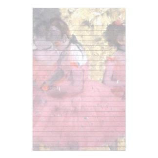 Dancers in Pink Between Scenes Stationery