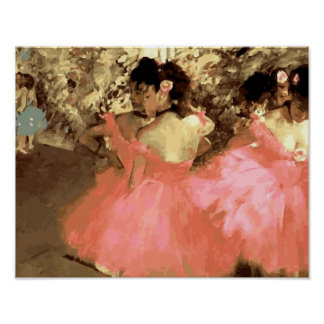 Dancers in Pink by Degas Poster