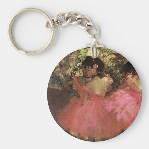 Dancers in Pink by Edgar Degas Keychain