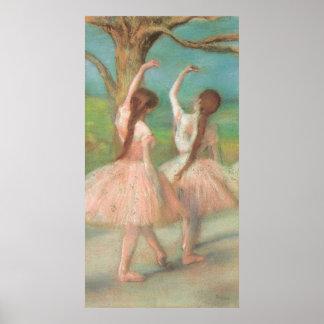 Dancers in Pink by Edgar Degas, Vintage Ballet Art Poster