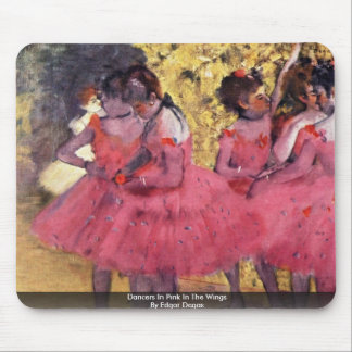 Dancers In Pink In The Wings By Edgar Degas Mouse Pad