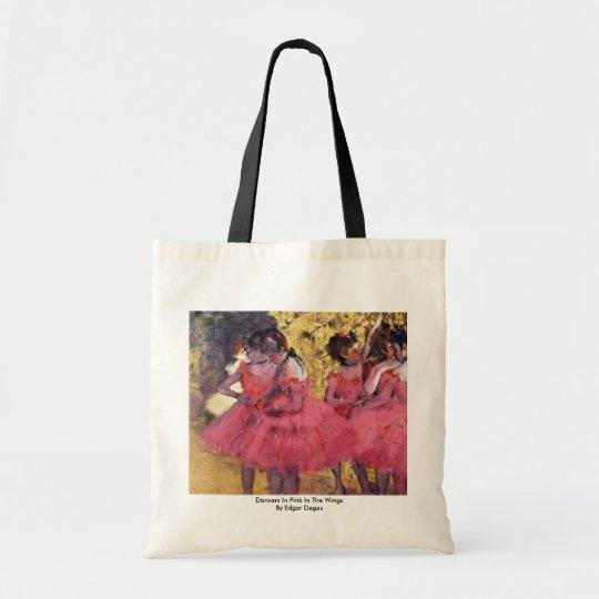 Dancers In Pink In The Wings By Edgar Degas Tote Bag