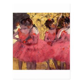 Dancers in Pink Postcard