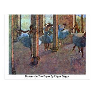 Dancers In The Foyer By Edgar Degas Postcard