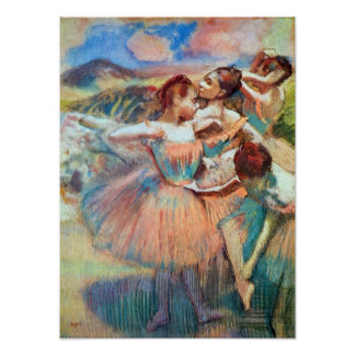 Dancers in the landscape by Edgar Degas Poster