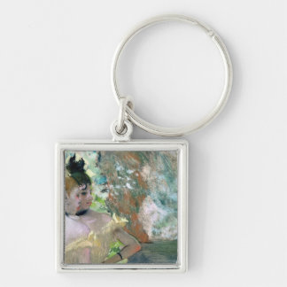 Dancers in the Wings Silver-Colored Square Keychain