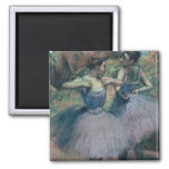 Dancers in Violet 2 Inch Square Magnet
