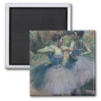 Dancers in Violet 2 Inch Square Magnet