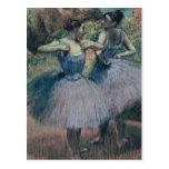 Dancers in Violet Post Card