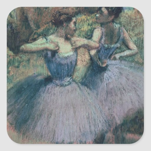 Dancers in Violet Square Sticker