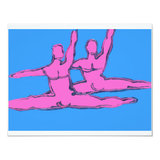 "Dancers Jete Duo 4.25"" X 5.5"" Invitation Card"