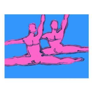 Dancers Jete Duo Postcard