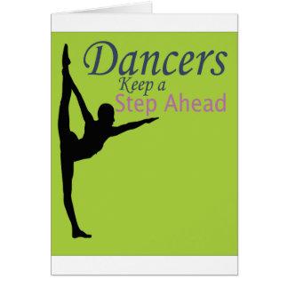 Dancers Keep a Step Ahead Greeting Card