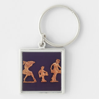 Dancers of goddess Demeter Silver-Colored Square Keychain