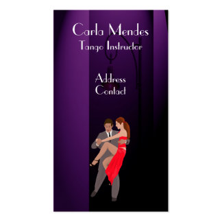 Dancers on Purple Back Ground Business Card