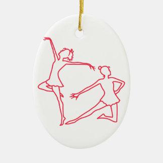Dancers Outline Ceramic Ornament