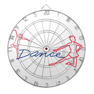 Dancers Outline Dart Board