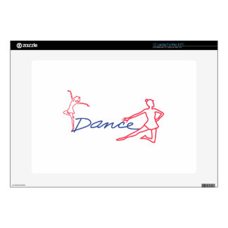 """Dancers Outline Decal For 15"""" Laptop"""
