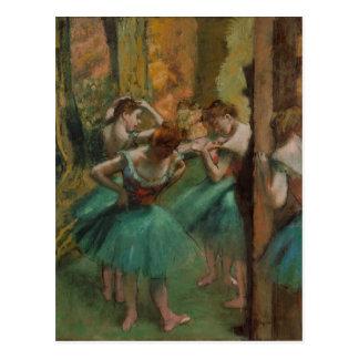 Dancers Pink and Green - Edgar Degas Postcards