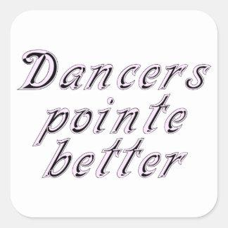 Dancers pointe better square sticker