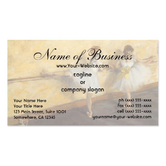 Dancers Practicing at the Barre by Edgar Degas Business Card Template