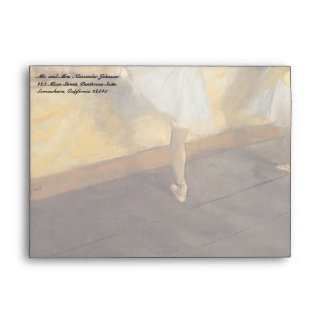 Dancers Practicing at the Barre by Edgar Degas Envelopes