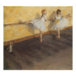 Dancers Practicing at the Barre by Edgar Degas Posters