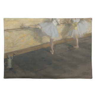 Dancers Practicing at the Barre - Edgar Degas Cloth Placemat