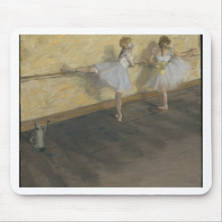 Dancers Practicing at the Barre - Edgar Degas Mouse Pad