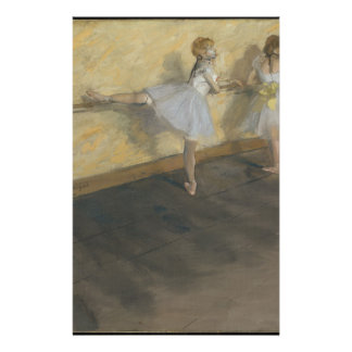 Dancers Practicing at the Barre - Edgar Degas Stationery
