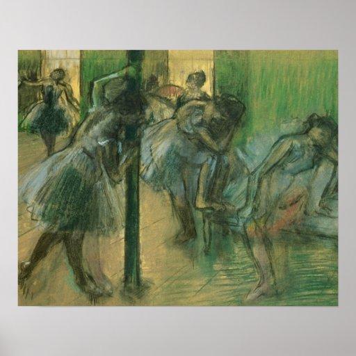 Dancers rehearsing (pastel) poster