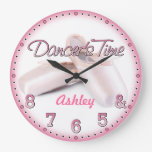 Dancer's Time Personalizable Wall Clock at Zazzle