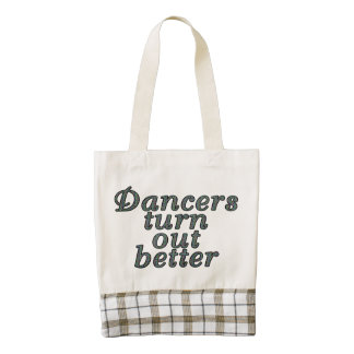 Dancers turn out better zazzle HEART tote bag