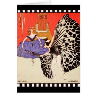 Dancers - Vintage Art by Kolo Moser Card