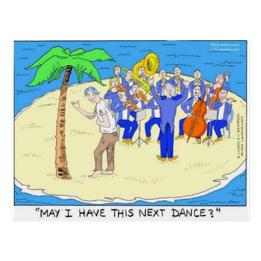 Dances W/Palm Trees Funny Gifts Tees Mugs Etc Postcard