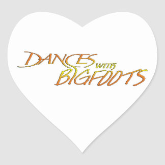 Dances with Bigfoot Heart Sticker
