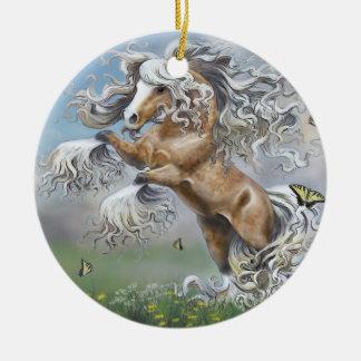 Dances With Butterflies Ceramic Ornament