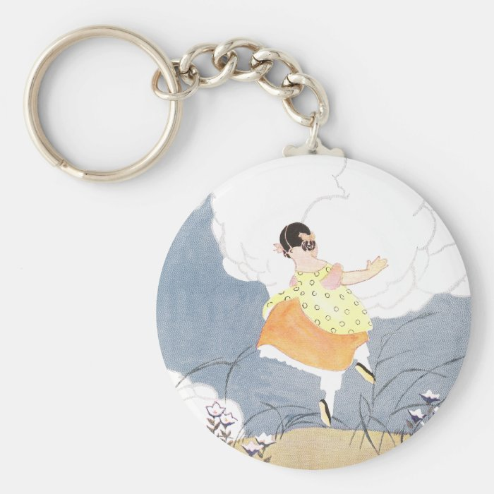 Dances with Butterflies Keychain