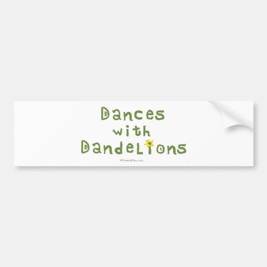 Dances with Dandelions Bumper Sticker